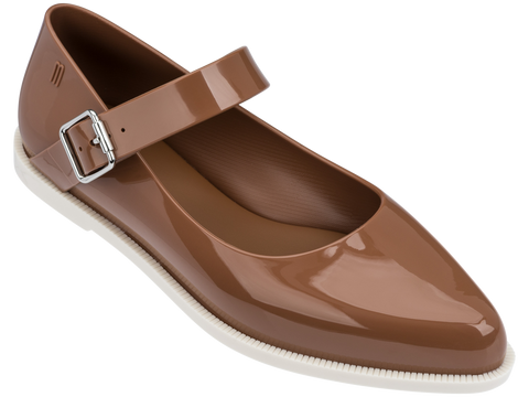 Melissa Women's brown jelly closed shoes with strap