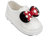 Melissa Kids white jelly sandals with cartoon minnie and bow