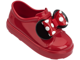 Melissa Kids red jelly sandals with cartoon minnie and bow