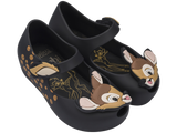 Melissa Kids black jelly sandals with bambi face
