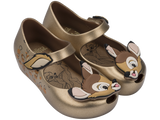 Melissa Kids gold jelly sandals with bambi face