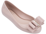Melissa Kid's pink jelly flats with bow