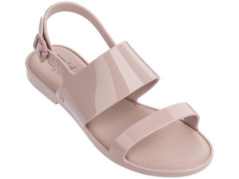 Melissa Kid's pink jelly flip flops with 2 straps