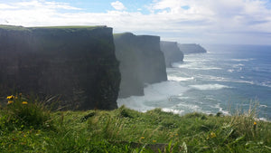 Cliffs of Moher along Irish coast make one think of St. Patrick's Day