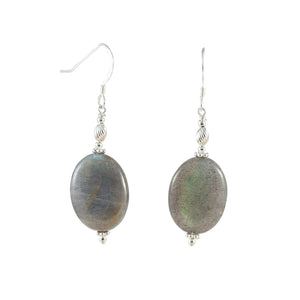 Labradorite and Sterling Silver Earrings - Gems from Paradise