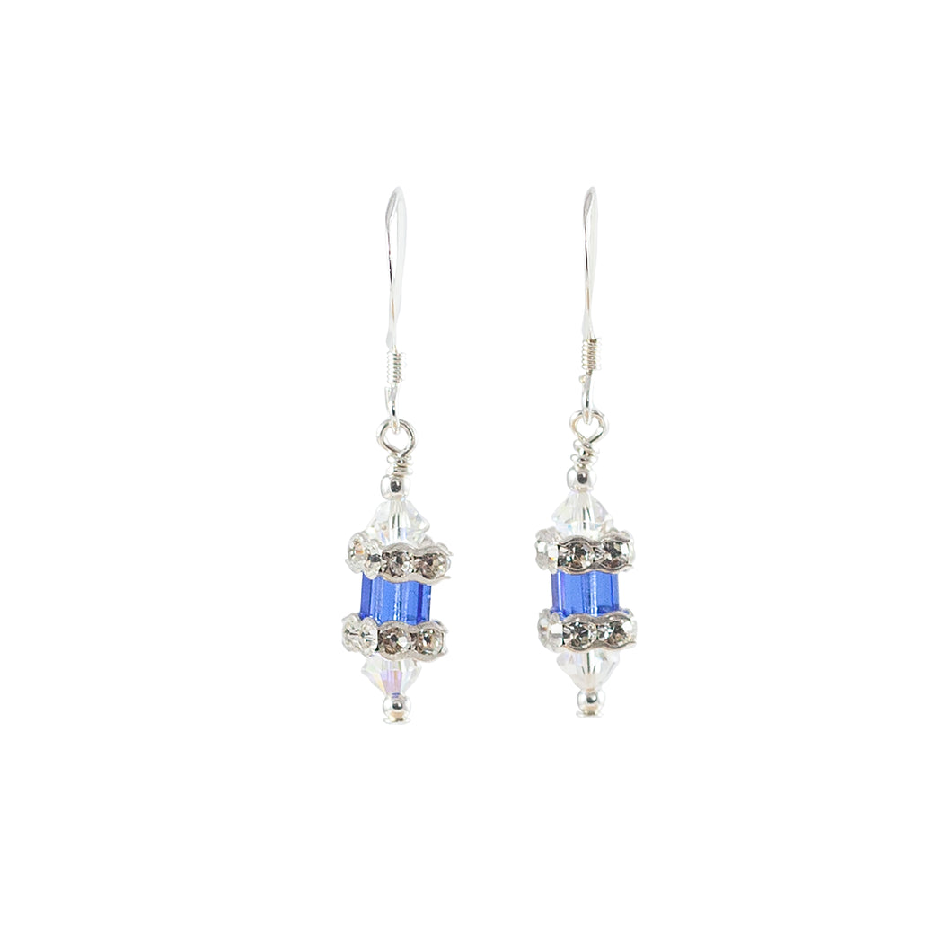 Sapphire Blue Crystal Drop Earrings - Gems from Paradise