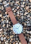Tan / Silver Leather Watch