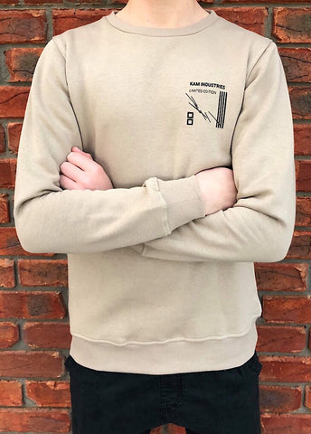 LIMITED EDITION Mens Tan Crew Neck