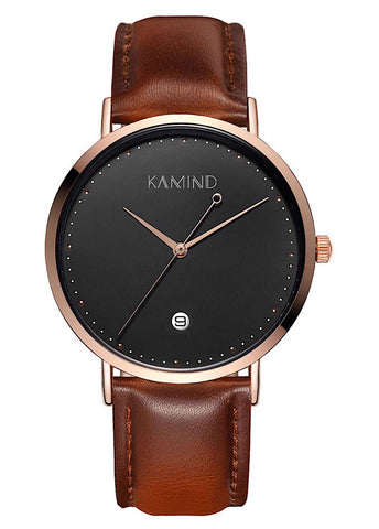 Brown | Black | Gold Classic Leather Watch