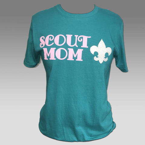 T-Shirt Teal Scout Mom Bling