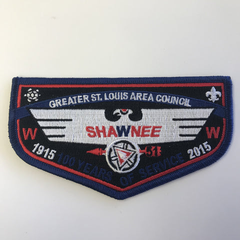 Emblem 100 years of Service - Shawnee