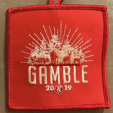 Emblem 2019 Gamble patch orange with loop