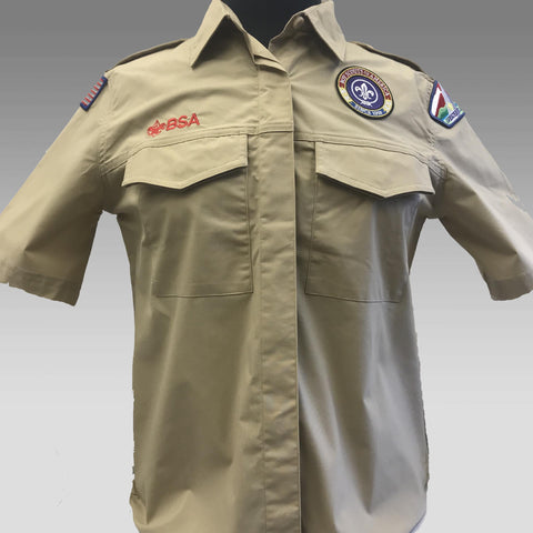 Shirt Uniform Ladies Tan Scouts BSA - SEWN *21