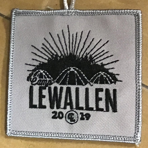 Emblem 2019 Lewallen patch with loop gray