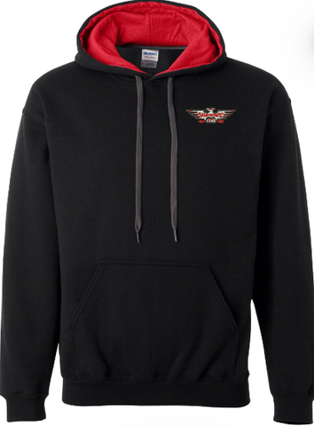 Shawnee Lodge Black with Red Hood Hoodie