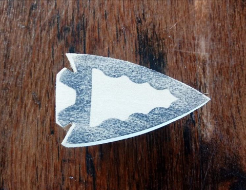 Carving Neckerchief Slide - Arrowhead