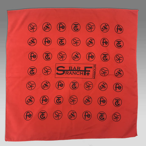 Bandana S Bar F camp logos red