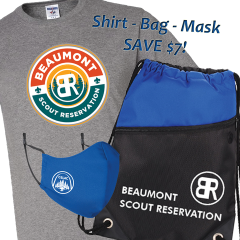 *Pre-Sale* Bundle Beaumont Camp Shirt, Drawstring Bag and Mask