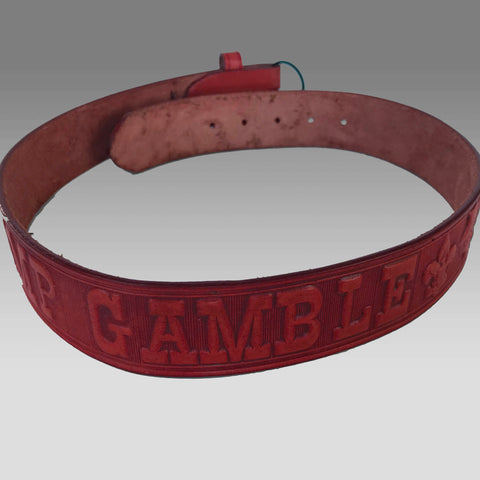 Belt - Leather Camp Gamble