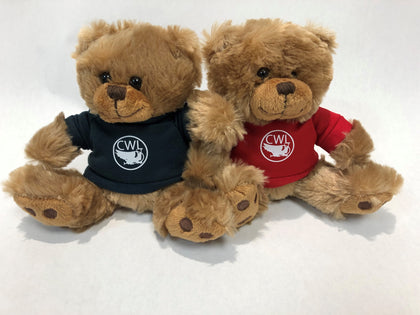Teddy Bear in T-Shirt with Warren Levis Nickel Logo