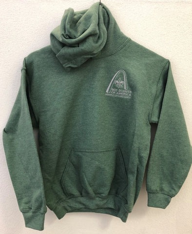 Hoodie - GSLAC Arch - Youth Military Green - Embroidered Logo