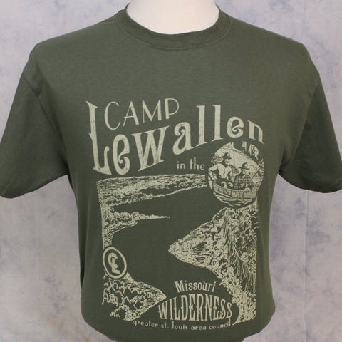 T-Shirt Green Camp Lewallen