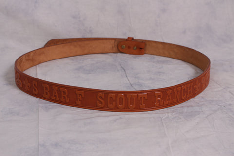 Belt - Leather S bar F Scout Ranch