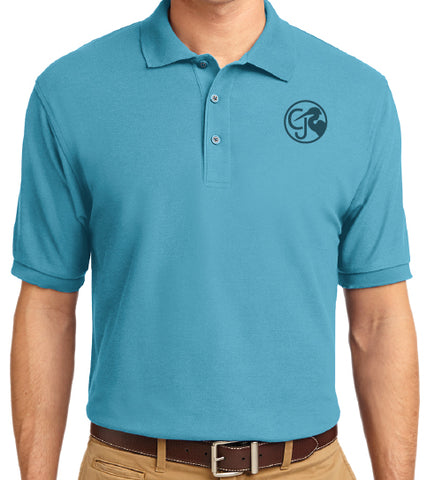 Men's Light Blue Polo Shirt - Joy