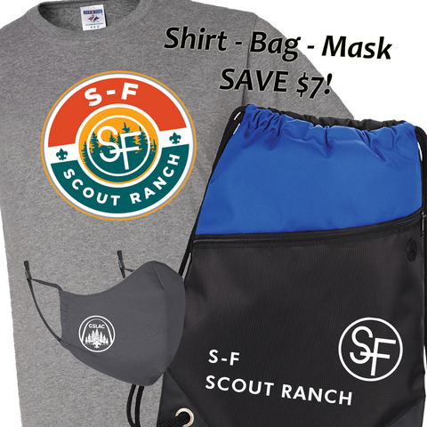 *Pre-Sale* Bundle S-F Camp Shirt, Drawstring Bag and Mask