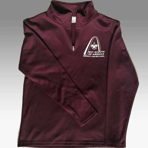 Shirt Pullover 1/4 Zip Fleece - GSLAC Arch - Youth