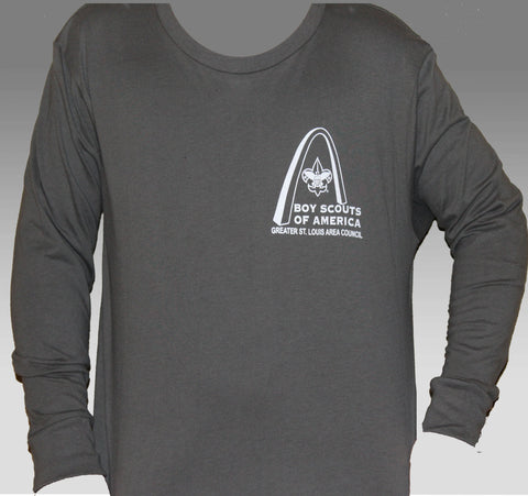 Shirt Long Sleeve  Youth  - GSLAC - Gray