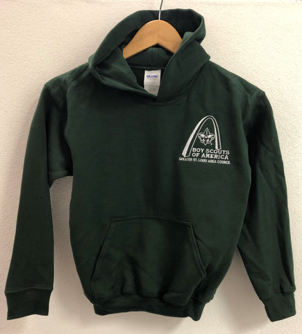 Hoodie - GSLAC Arch - Youth Hunter Green - Embroidered Logo