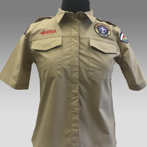 Shirt Uniform Girls Tan Scouts BSA - SEWN *21