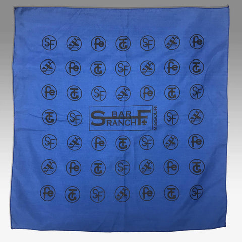 Bandana S Bar F camp logos blue