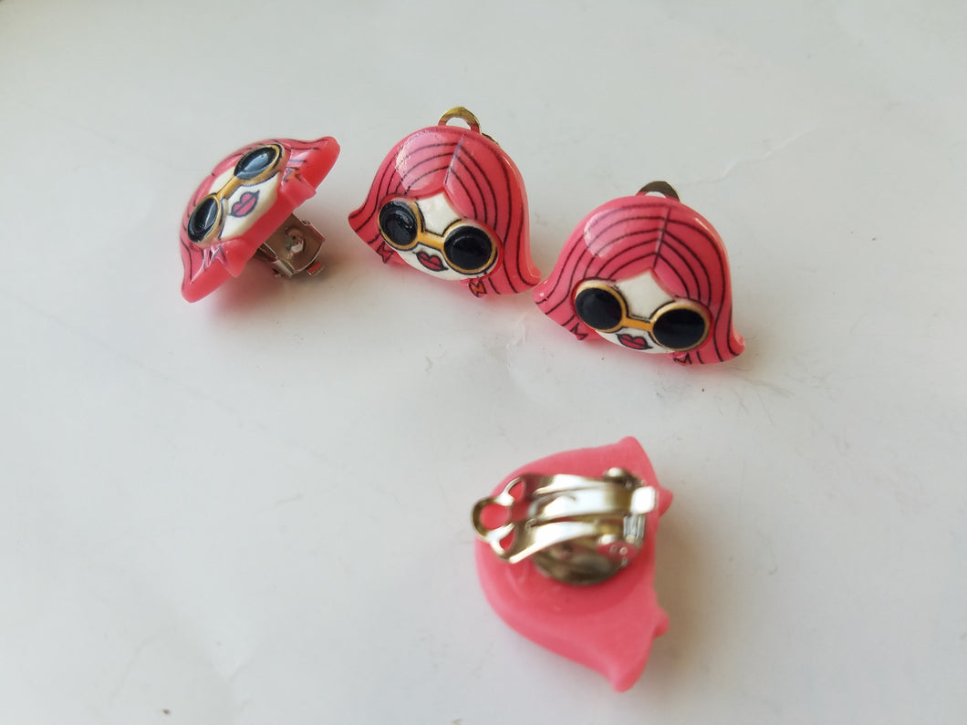 MOD Girl Clip On Earrings