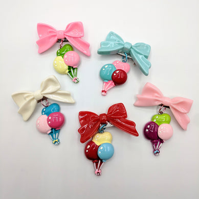 Birthday Balloon Bow Brooches