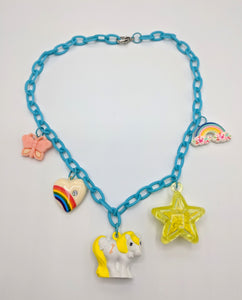 "VTG MLP ""Secret Keeper"" Chain Charm Necklace"