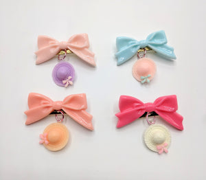 Bow Brooches with Hats