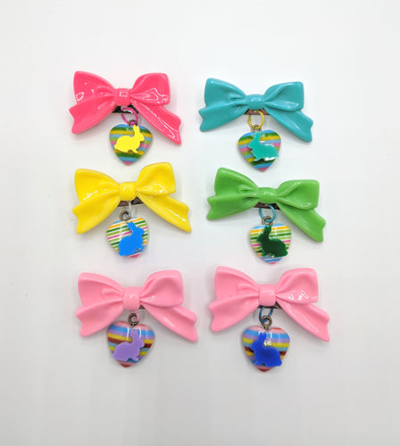 Easter Bunny Bow Brooch