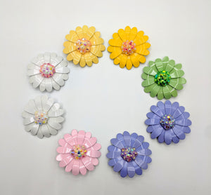 Bejeweled Vintage Daisy Brooches