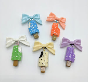 Popsicle Bow Brooches