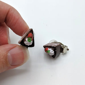 Cake Clip On Earrings