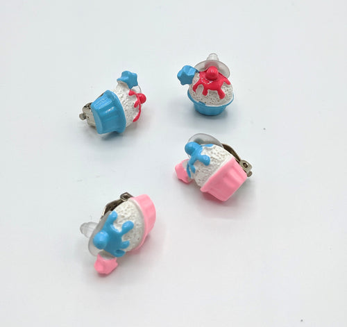 Cupcake Clip On Earrings
