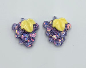Glitter Fruit Earrings