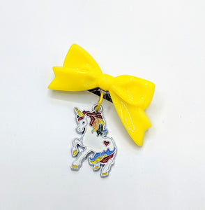 Starlite Rainbow Unicorn Bow Brooch
