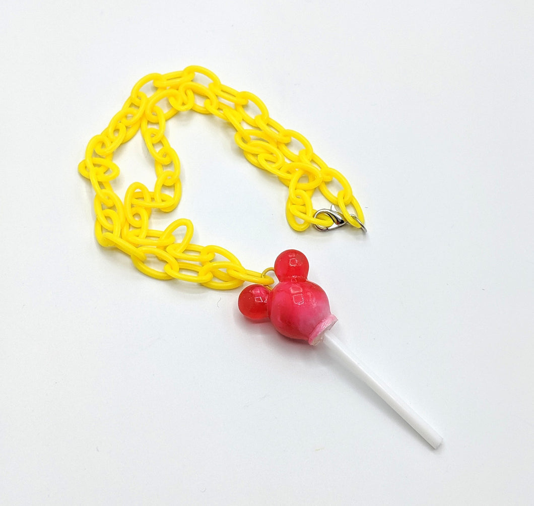 Mickey Marbled Lollipop Necklaces