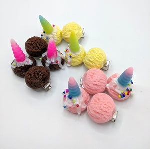 Ice Cream Uni-Cone Hair Clips
