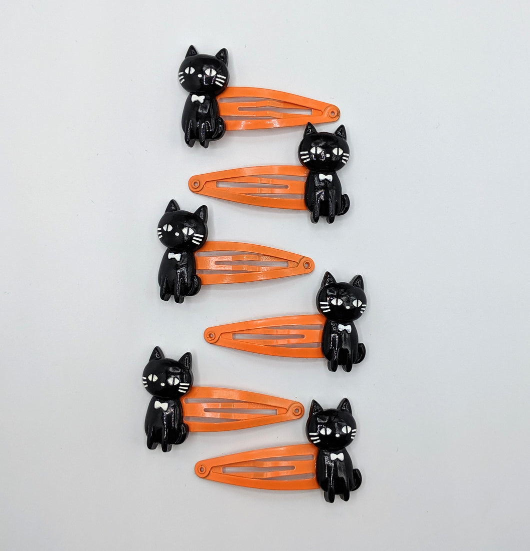 Black Cat Snap Clips