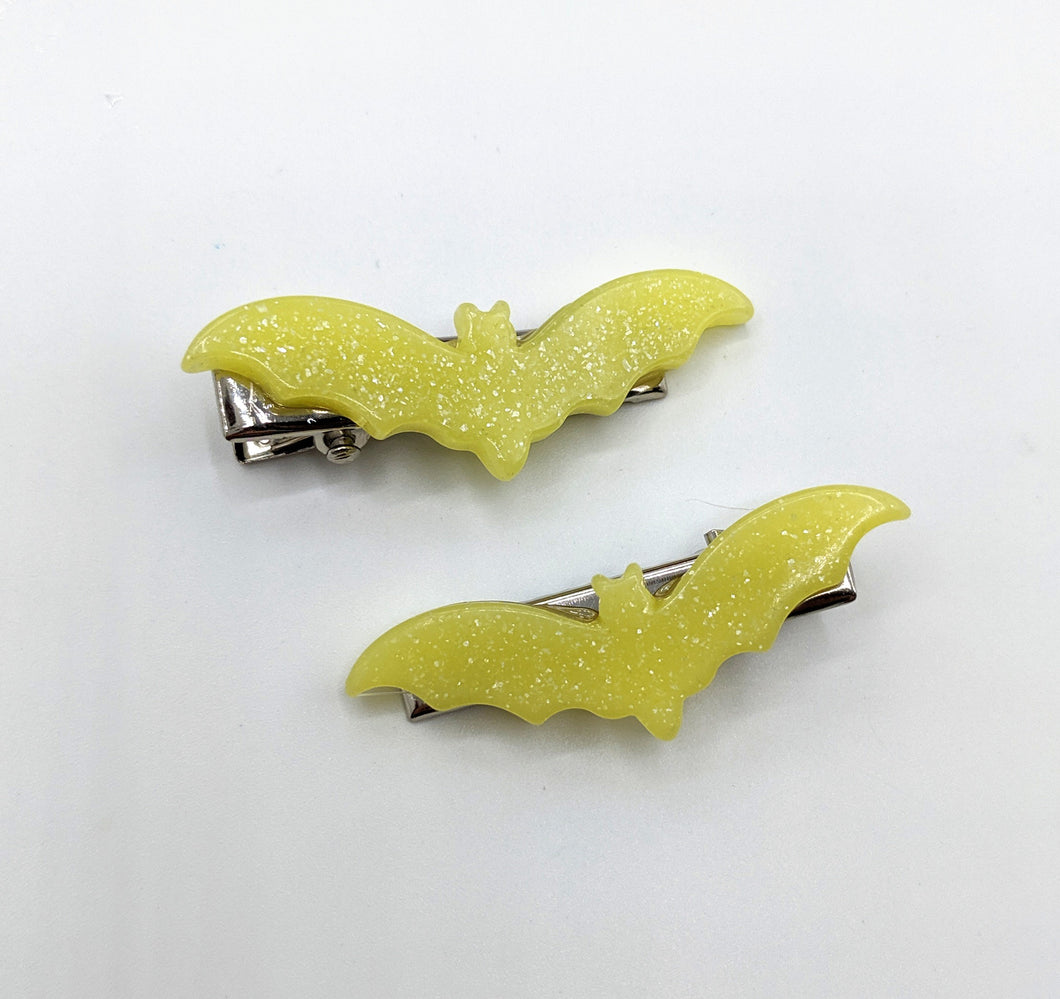 Bat Hair Clip Piggie Sets