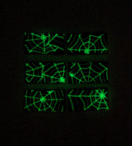 Glow in the Dark Spider Web Hair Clips